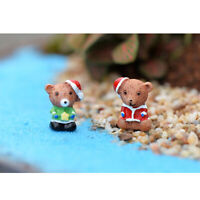10x Miniature Micro Landscape Resin Animals Craft Decoration Christmas Bears