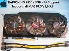 Gigabyte Radeon HD 7950 3GB Apple MAC PRO Upgrade 1,1-5,1 with Power Cables, 4K