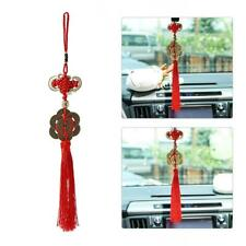 Copper Coins Red Chinese Knot Wealth Success Lucky Charm Car Home Ornament Decor