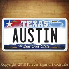 Austin Texas City/College Aluminum Vanity License Plate Tag New