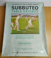 More details for subbuteo table cricket game club edition vintage 1970s test & county cricket
