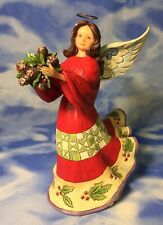"Beautiful 9"" Jim Shore ""Naturally Festive"" Holiday Angel Figurine 4047761 RGUC"