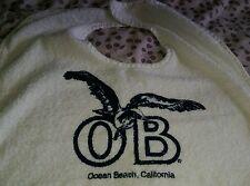 New Ocean Beach California Ca 92107 Seagull Cotton Terry Large Bib 18X26 shirt