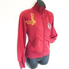 Fornarina Zip Up Chaqueta Smart Casual Street Wear Vino Rojo Tamaño L 8 10