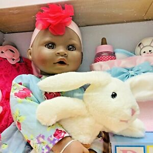 """My Sweet Love 18"""" Baby Doll w/ Accessories Bottle Pacifier Plush Easter Bunny"""
