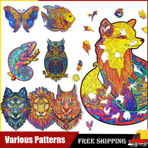 Creative Wooden Jigsaw Puzzles Unique Animal Shape Home Decor Adult Kid Toy Gift
