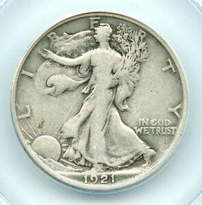 1921-D Walking Liberty Half Dollar, ANACS F12