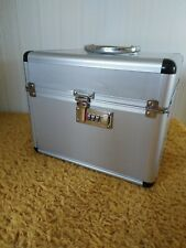 ALUMINIUM CASE & COMBINATION LOCK .LOTS OF SPACE,LARGE. SOME DENTS & SCRATCHES