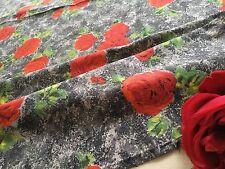 Coupon de tissu Vintage Coton imprimé floral 172 x 75 cm Création Réf 1455/81-2