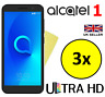 3x HQ ULTRA CLEAR HD SCREEN PROTECTOR COVER FILM SAVER GUARDS FOR ALCATEL 1