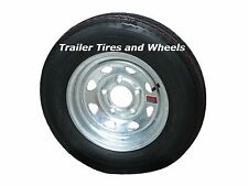 "4.80-12 LRC ET Bias Trailer Tire on 12"" 5 Lug Galvanized Spoke Wheel 4.80x12"