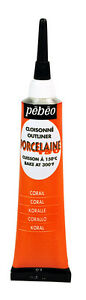 Pebeo Porcelaine 150 Oven Bake Outliner Relief Paste for China Ceramic Painting