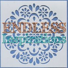 """6""""x6"""" Endless Inspirations Stencil, Gramma's Doily - Free US Shipping"""
