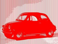 QUADRO STAMPA SU TELA YOUDA FIAT 500 70X50 ANNI 50 DESIGN ARREDO POSTER POP ART