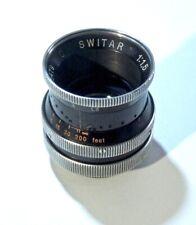 SWITAR 25mm AR f1.5 C-MOUNT LENS - VG