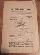"1933 PRESIDENT VAN BUREN COMEDY ""RUSTY SPOON CAFFAY"" MENU DOLLAR STEAMSHIP LINE"