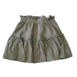 Dissh Skirt Size 8 Ruffle A Line Green Elastic Waist Short Party Events Casual