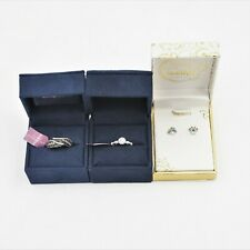 of 3 Assorted New in Box -Bbr1656 Disney Enchanted Fine Rings & Earrings Lot