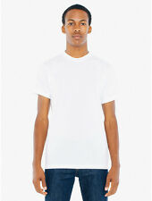 American Apparel 50/50 Crew Neck T-Shirt. Mens M White New