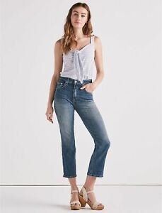 Lucky Brand Women's Lucky Pins High Rise Cropped Jeans Size 0 / 25 Lemon Valley