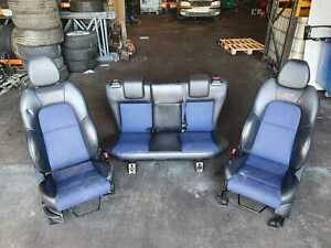 FORD FIESTA MK6 3 DOOR ST ST150 BLUE CLOTH HALF LEATHER SEATS INTERIOR 2002-2008