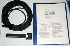 SONY XC-999 CCD COLOR VIDEO CAMERA MODULE W/ CORD & MANUAL