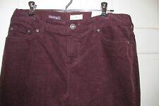 St John's Bay Classic Fit Straight Leg Burgundy Corduroy Pants - Size 6