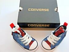 Converse All Star Baby Kids, Blue Canvas fashion shoes Casual Junior size 2 NIB