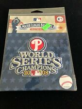 NEW 2008 Phillies World Series Champions Patch  Factory Package Xtras Ship FREE