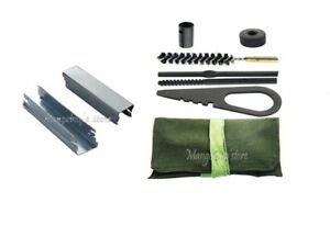 New Mosin Nagant 6 Piece Cleaning Brush With 10pcs 7.62x54 Spring Stripper Clips