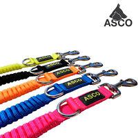 ASCO Hundeleine mit Ruckdämpfer, verstellbare Neon Leine für Hunde in 4 Längen