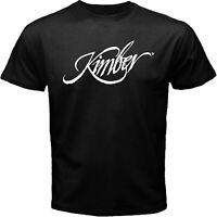 Kimber Arms USA Handgun 1911 Pistol Police Hunting Guns Black T-shirt Size S-5XL