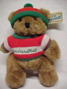 Dakin Fun Farm Jointed Berry Bear Christmas 1986 Stuffed Teddy Tag Perfect Clean