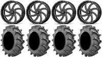 "MSA Milled Switch 20"" Wheels 35x8.3 BKT 171 Tires Can-Am Commander Maverick"