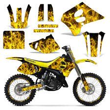 Decal Graphic Kit Backgrounds Suzuki RM125 RM250 125 250 Dirt Bike 93-95 ICE YLW