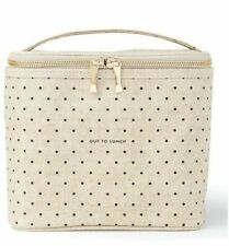 """Kate Spade """"Out To Lunch"""" Lunch Tote Cosmetic Bag Insulated Polka Dot NEW"""