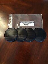 75mm Carbon Fiber Center Cap Stickers Black Universal 4PC Set Custom Made USA