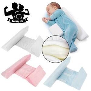 Newborn Baby Pillow Shape Styling Anti-roll Adjustable Side Sleep Cushion UK
