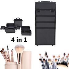 Noir Trolley Boîte Coffre maquillage Bijoux Cosmétique Malette Esthétique Case