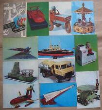 SET 15 Russian Toy Kid Post Card Child Space Robot Rocket Ship Moonwalker Car