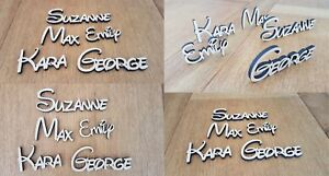 Waltograph Style Font Personalised Wooden Name Plaques Words Letters Door Sign