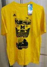 Michigan Wolverines This is MICHIGAN 134,000 2013 Schedule T-Shirt Adidas Mens L