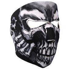 Assassin Skull Revolver Gangster Neoprene Face Mask ATV Ski Biker Costume Black