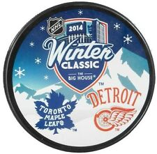 Detroit Red Wings Toronto Maple Leafs NHL Winter Classic Souvenir Hockey Puck
