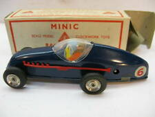 ANTIQUE TOY CAR TRIANG MINIC WIND UP RACING 13M SCALE MODEL TIN BOX CLOCKWORK