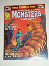 Vintage MONSTERS OF THE MOVIES ANNUAL 1975 Horror Magazine High Grade