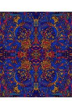 3D TAPESTRY-LIQUID A-Psychedelic Mandala-60X90 WALL HANGING-3D GLASSES Grateful