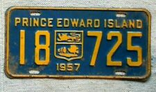 PRINCE EDWARD ISLAND License Plate Tag 1957 PEI - Low Shipping