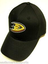 Anaheim Ducks Reebok NHL Black Structured Adjustable Hat Cap OSFA