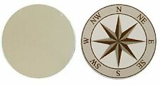NAUTICAL COMPASS METAL GOLF BALL MARKER DISC 25MM DIAMETER
